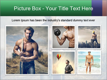 Strong handsome man PowerPoint Templates - Slide 19