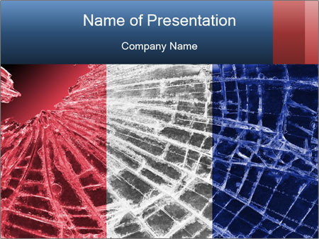 Isolated broken glass PowerPoint Templates