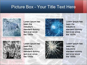 Isolated broken glass PowerPoint Template - Slide 14