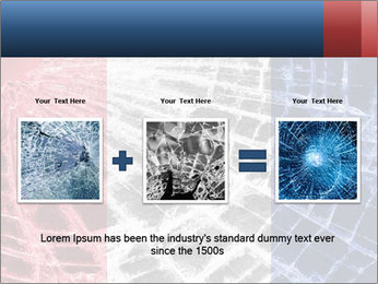 Isolated broken glass PowerPoint Template - Slide 22