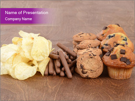 Pile of junk food PowerPoint Template