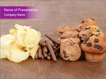 Pile of junk food PowerPoint Template - Slide 1