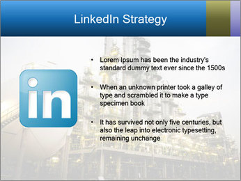 Petrochemical plant PowerPoint Template - Slide 12