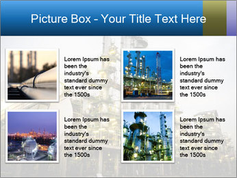 Petrochemical plant PowerPoint Template - Slide 14