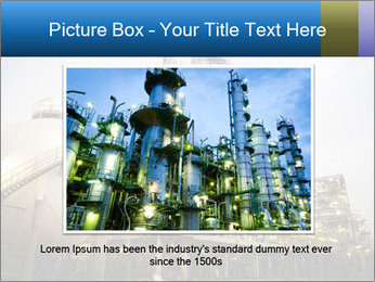 Petrochemical plant PowerPoint Template - Slide 15