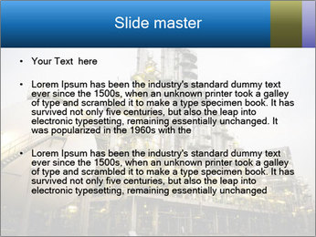 Petrochemical plant PowerPoint Template - Slide 2