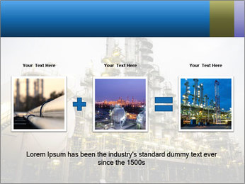 Petrochemical plant PowerPoint Template - Slide 22