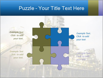 Petrochemical plant PowerPoint Template - Slide 43