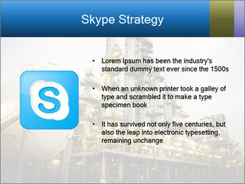 Petrochemical plant PowerPoint Template - Slide 8
