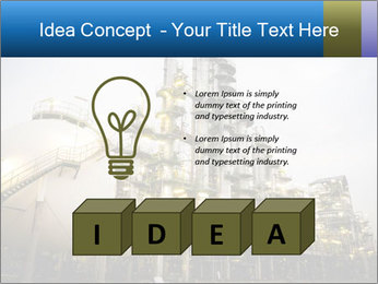 Petrochemical plant PowerPoint Template - Slide 80