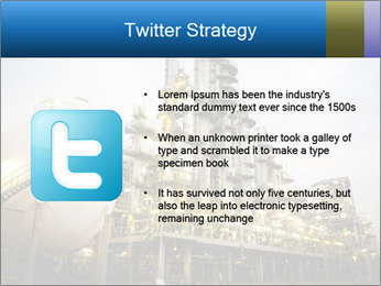Petrochemical plant PowerPoint Template - Slide 9