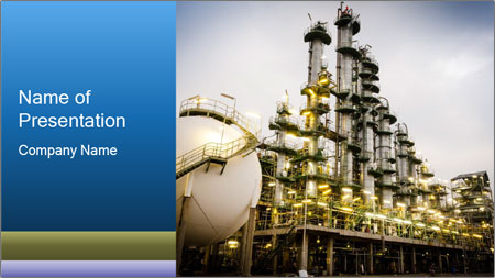 Petrochemical plant PowerPoint Template