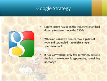 Working bees on honey cells PowerPoint Template - Slide 10