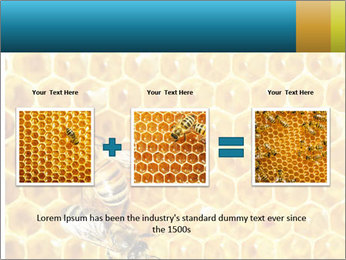 Working bees on honey cells PowerPoint Template - Slide 22