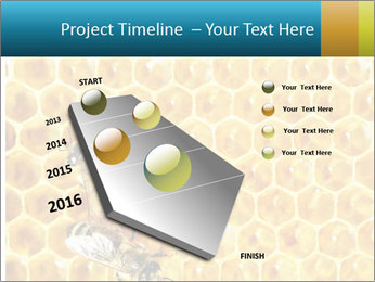 Working bees on honey cells PowerPoint Template - Slide 26