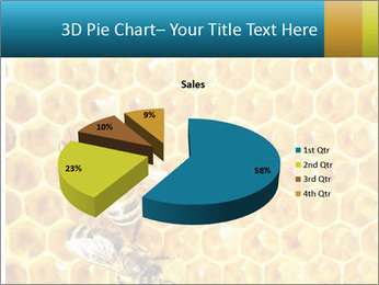 Working bees on honey cells PowerPoint Template - Slide 35