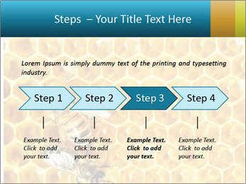 Working bees on honey cells PowerPoint Template - Slide 4