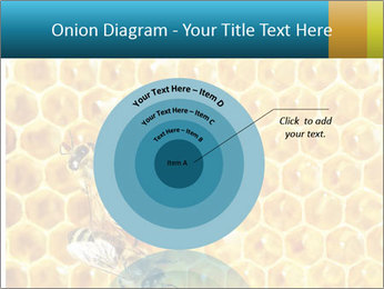 Working bees on honey cells PowerPoint Template - Slide 61