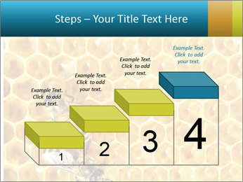 Working bees on honey cells PowerPoint Template - Slide 64