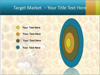 Working bees on honey cells PowerPoint Template - Slide 84
