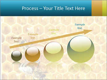 Working bees on honey cells PowerPoint Template - Slide 87