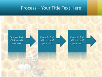 Working bees on honey cells PowerPoint Template - Slide 88