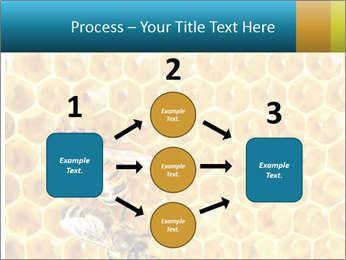 Working bees on honey cells PowerPoint Template - Slide 92