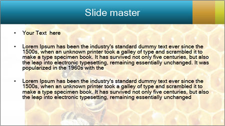 Working bees on honey cells PowerPoint Template - Slide 2