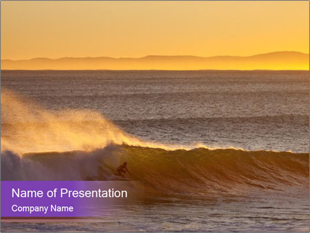 South African Surfing PowerPoint Template