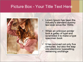 Young sexy Woman wearing cowboy hat PowerPoint Templates - Slide 13