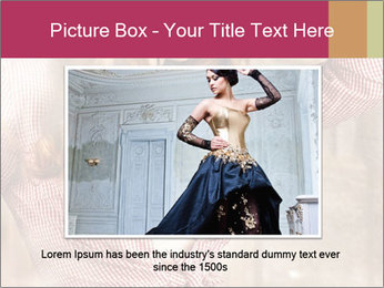 Young sexy Woman wearing cowboy hat PowerPoint Templates - Slide 16