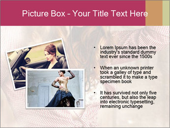 Young sexy Woman wearing cowboy hat PowerPoint Templates - Slide 20
