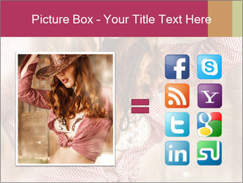 Young sexy Woman wearing cowboy hat PowerPoint Templates - Slide 21