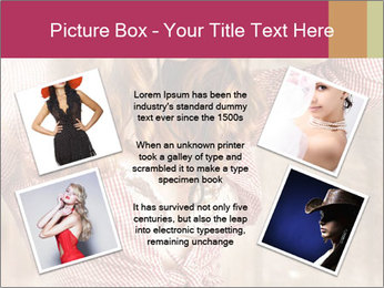 Young sexy Woman wearing cowboy hat PowerPoint Template - Slide 24