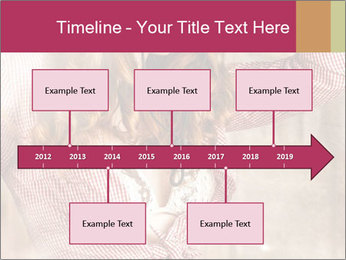 Young sexy Woman wearing cowboy hat PowerPoint Templates - Slide 28