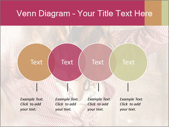 Young sexy Woman wearing cowboy hat PowerPoint Templates - Slide 32