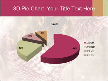 Young sexy Woman wearing cowboy hat PowerPoint Templates - Slide 35