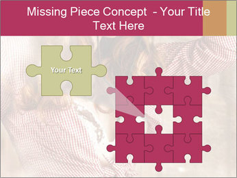 Young sexy Woman wearing cowboy hat PowerPoint Templates - Slide 45