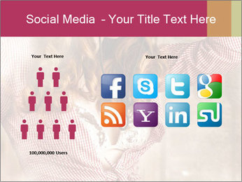 Young sexy Woman wearing cowboy hat PowerPoint Templates - Slide 5