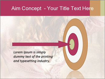 Young sexy Woman wearing cowboy hat PowerPoint Templates - Slide 83