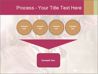 Young sexy Woman wearing cowboy hat PowerPoint Template - Slide 93