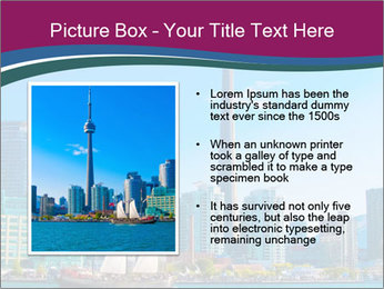 Toronto cityscape from Central Island PowerPoint Templates - Slide 13