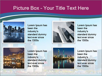 Toronto cityscape from Central Island PowerPoint Templates - Slide 14