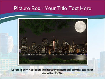 Toronto cityscape from Central Island PowerPoint Templates - Slide 15