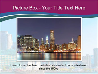 Toronto cityscape from Central Island PowerPoint Templates - Slide 16