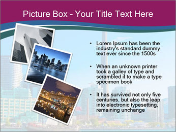 Toronto cityscape from Central Island PowerPoint Templates - Slide 17