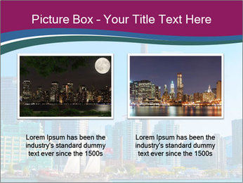 Toronto cityscape from Central Island PowerPoint Templates - Slide 18