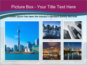 Toronto cityscape from Central Island PowerPoint Templates - Slide 19
