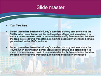 Toronto cityscape from Central Island PowerPoint Templates - Slide 2