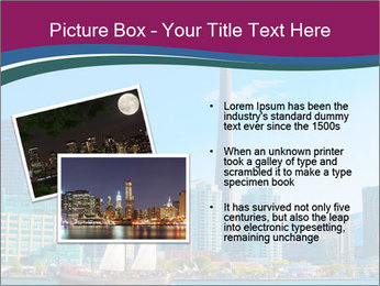 Toronto cityscape from Central Island PowerPoint Templates - Slide 20